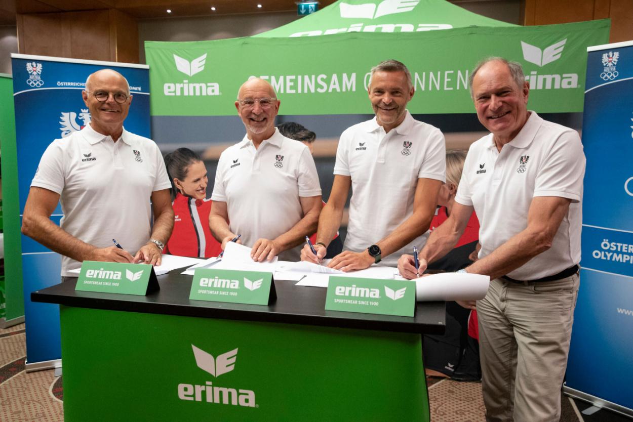 Ausrüstervertrag verlängert: ERIMA bleibt auch in Zukunft Olympiapartner