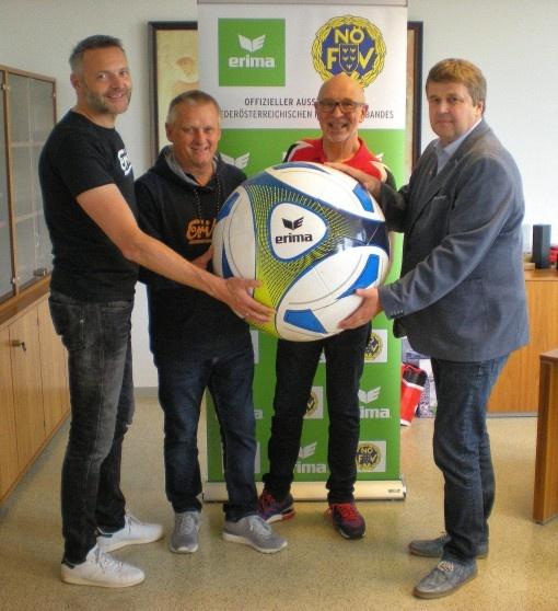 Partnerschaft: NÖ. Fußballverband  und ERIMA setzen nachhaltige Akzente