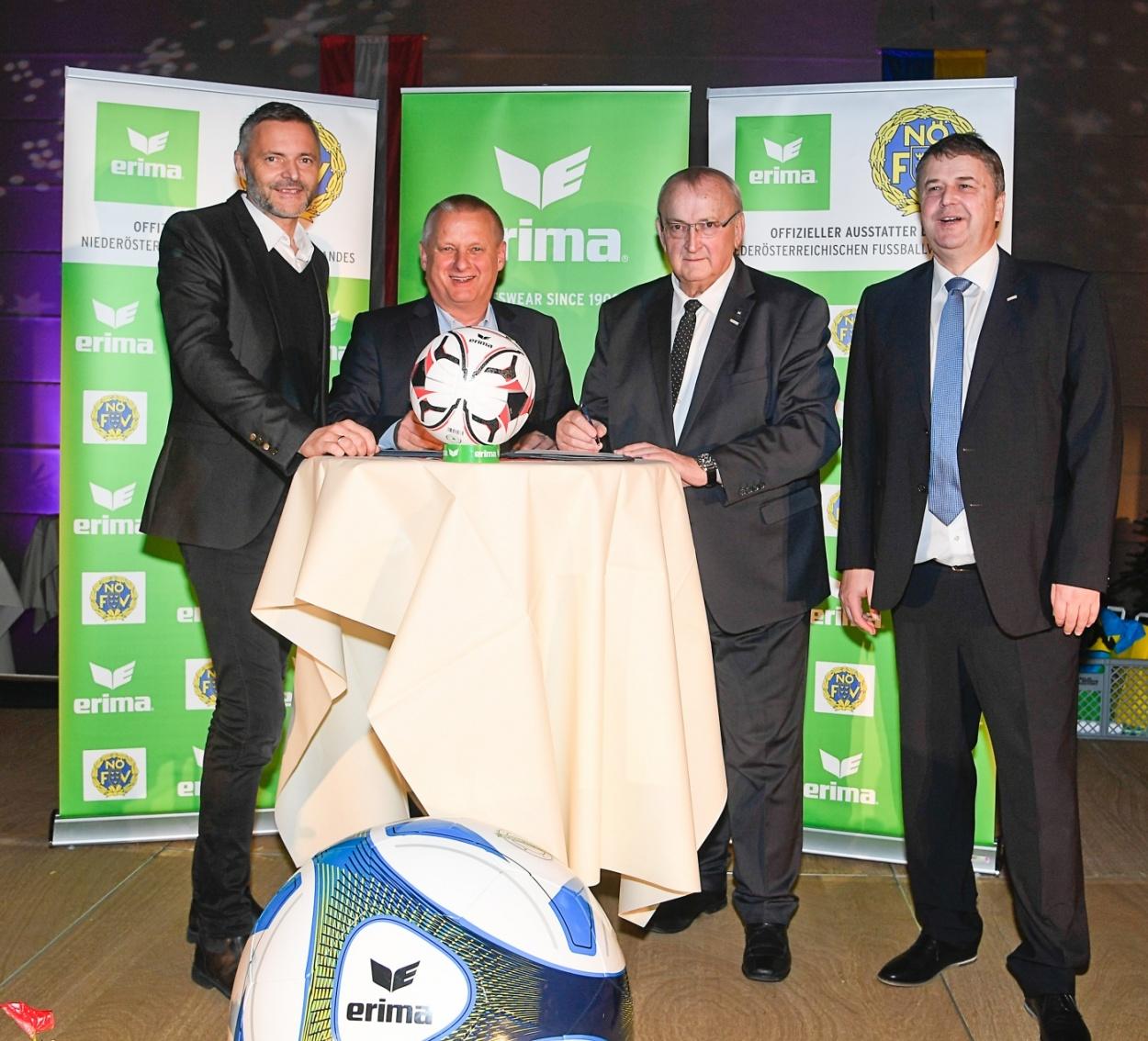 ERIMA bleibt auch in Zukunft offizieller Partner des Niederösterreichischen Fußballverbandes
